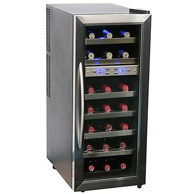 21 Bottle Dual Temperature Zone Wine Cooler
