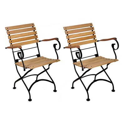 Furniture Designhouse European Grande Café Folding Armchair (Set of 2)