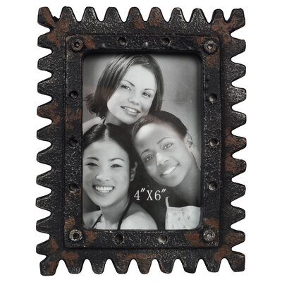 Distressed Sawtooth Tabletop Easel Picture Frame