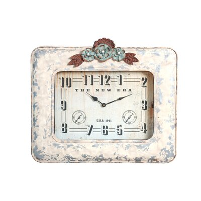 Shabby Elegance Rectangle Wall Clock