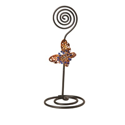 Metal Butterfly Card Holder
