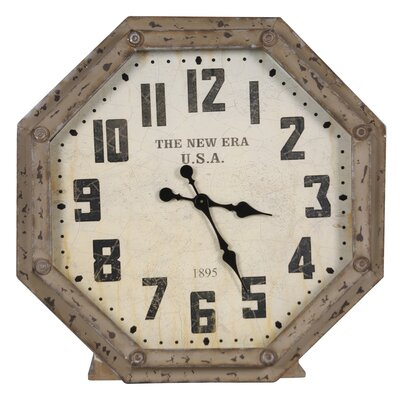 Octagon Metal Wall Clock