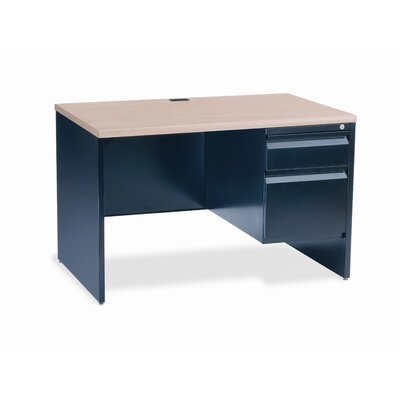 Virco Right Side Single Pedestal Computer Desk