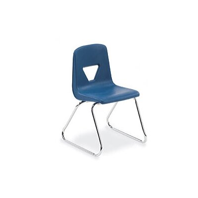 "Virco 2000 Series 16"" Polypropylene Classroom Sled Stacking Chair"