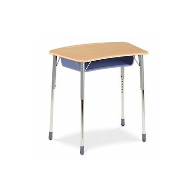 Virco Zuma Plastic Bow Front Student Desk
