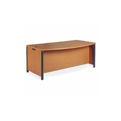 "Virco Plateau Office 60"" W Bow Front Executive Desk"