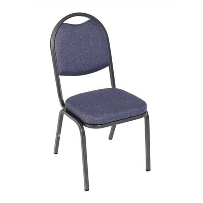 Virco Charcoal Black Stacking Chair with 2&quot; Crown Seat