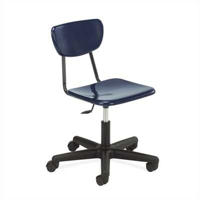 "Virco 3000 Series Adjustable Height 15.38"" - 20.5"" Hard Plastic Classroom Mobile Chair"