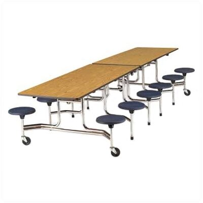 Virco Rectangular 12 Stool Table with Sure Edge Finish