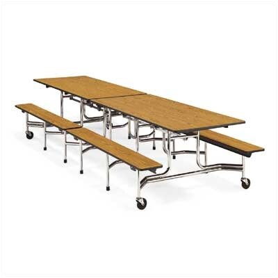 Virco Bench Table with T-Mold Edge (17&quot;H x 8&quot;L)