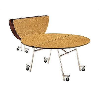 "Virco 72"" Round Mobile ContourFold Table with Sure Edge"