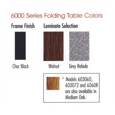 "Virco 6000 Series Folding Table (18"" x 60"")"