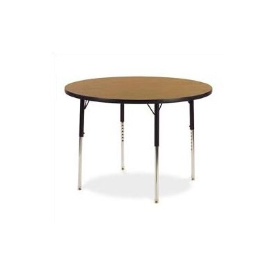 "Virco 4000 Series 42"" Round Activity Table with Non-Adjustable Chrome Legs"