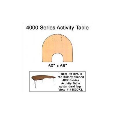Virco 4000 Series Horseshoe Activity Table with Fully Chrome Short Legs