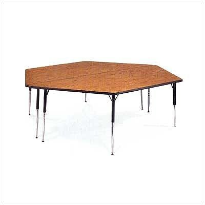 "Virco 4000 Series Trapezoidal Activity Table with Fully Chrome Short Legs (42"" x 84"")"