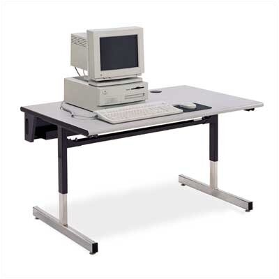 "Virco Future Access Half Round Computer Table (30"" x 60"")"