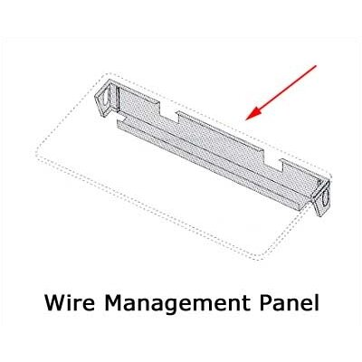 "Virco Wire Mgmt. Panel for 48"" W Rectangulars / 60"" Trapezoids"