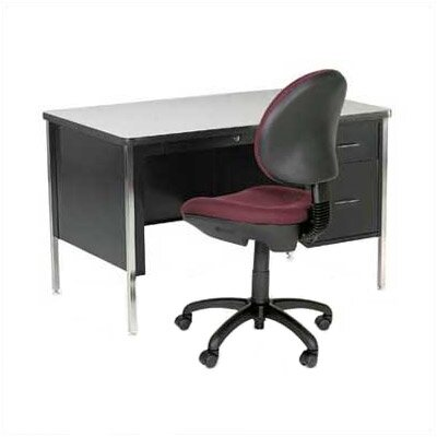 Virco 540 Series Teacher's Computer Desk with Double-Pedestals