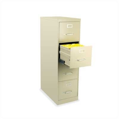 Virco Four-Drawer Vertical Legal File