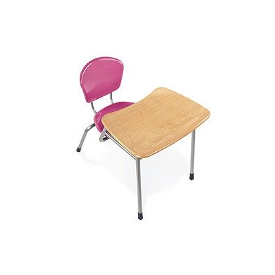 "Virco Zuma 32.5"" Recycled Wood Combo Chair Desk"