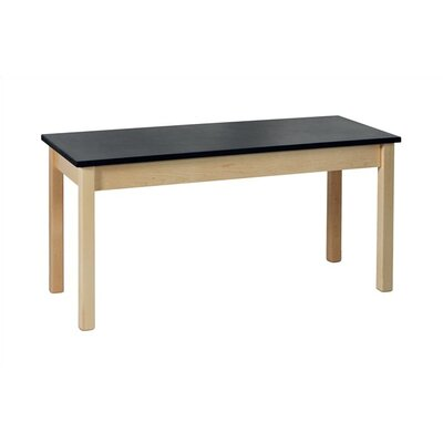 "Virco Chemsurf Laminate Black Top Science Table (48"" x 24"")"