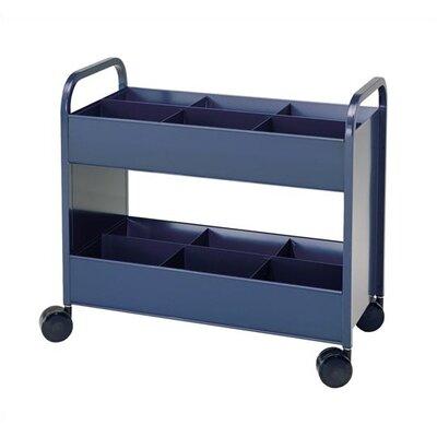 Virco Utility Cart 2 Shelves with 6 Bins