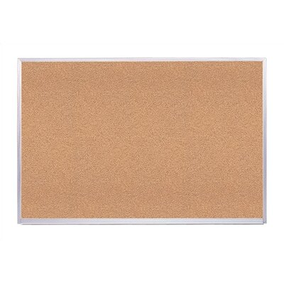 Virco Natural Corkboard, Aluminum Frame
