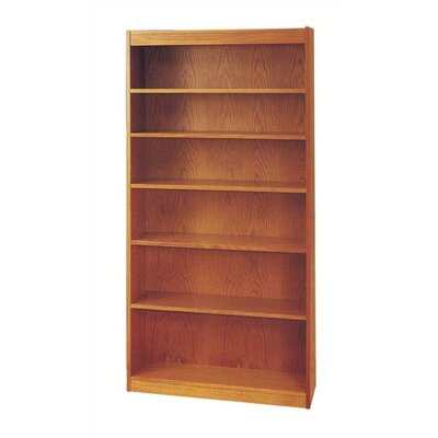 "Virco 48"" H Four Shelf Bookcase in Oak"