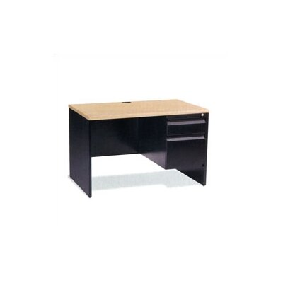 "Virco 60"" Single Pedestal Computer Desk with Box/File Drawer"