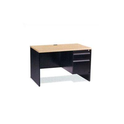"Virco 45"" Single Pedestal Computer Desk with Box/File Drawer"