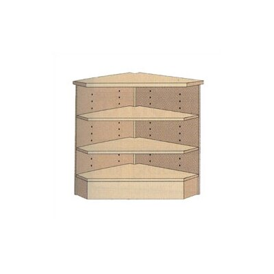 "Virco 3-Shelf Corner Unit (39"" x 33"")"