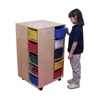 Virco Cubby Spinner Mobile Storage Unit with Assorted Trays