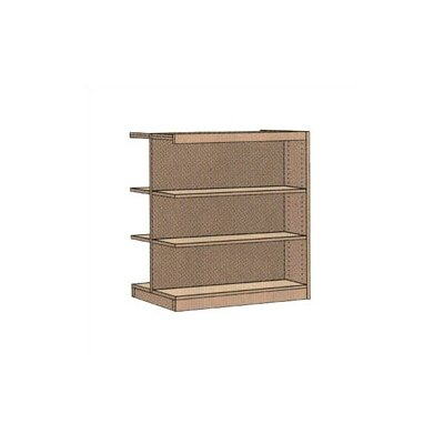 "Virco Double-faced Library 48"" Bookcase"