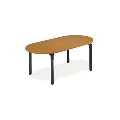 Virco Race Track Plateau Table with Casters