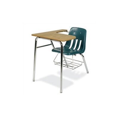 "Virco 9000 Series 30"" Plastic Combo Chair Desk with Bookrack"