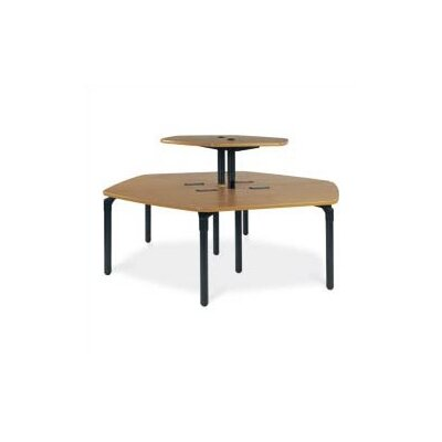 "Virco Single Technology Table (37"" x 84"") with Top Shelf"