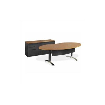 "Virco Plateau 72"" W Ellipse Office Writing Desk with Bi-Point Legs"