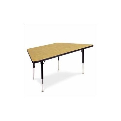"Virco 4000 Series Trapezoidal Activity Table ( 22 - 30"" Standard Adjustable Legs)"