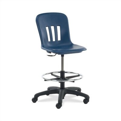 Virco Height Adjustable Lab Stool with Steel Frame