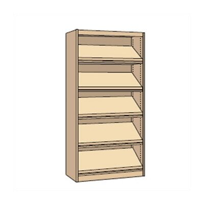 "Virco Single-faced Periodical Starter Library Shelving (82"" x 37"")"