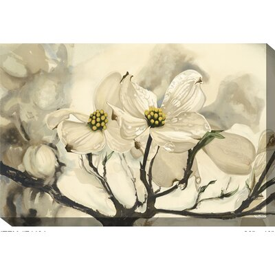Dogwood Watercolor Outdoor Canvas Art