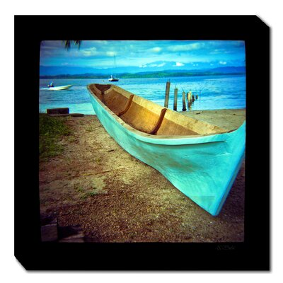 Blue Boat Outdoor Canvas Art