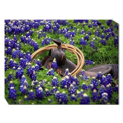 Bluebonnet Saddle Photographic Print on Canvas