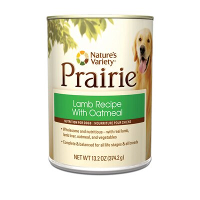 Nature's Variety Prairie Lamb Recipe with Oatmeal Canned Dog Food (13.2-oz, case of 12)
