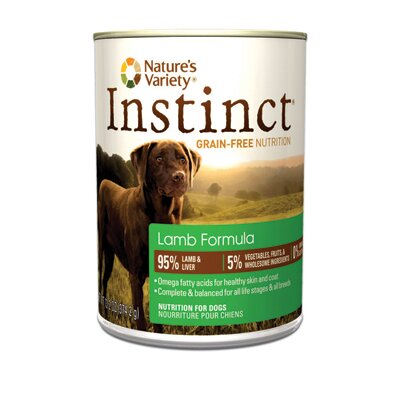 Nature's Variety Instinct Grain-Free Lamb Canned Dog Food