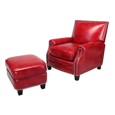 Madrid Leather Chair and Ottoman