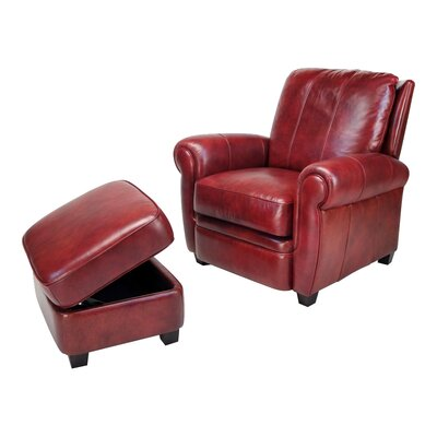 Max Leather Chair and Ottoman