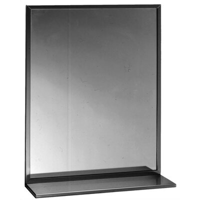 Channel-Framed Mirror with Shelf