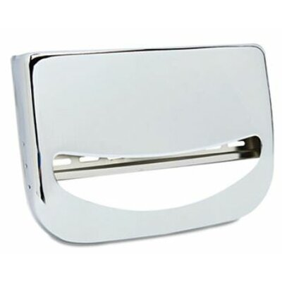 Bobrick Wall-Mounted Toilet Seat Cover Dispenser, Chrome, 1 EA