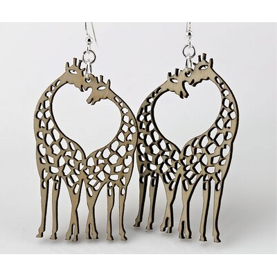 Green Tree Jewelry Giraffe Heart Earrings